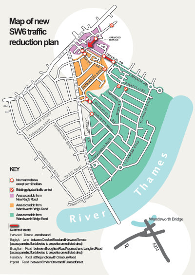 Map SW6 Traffic Plan July 2020