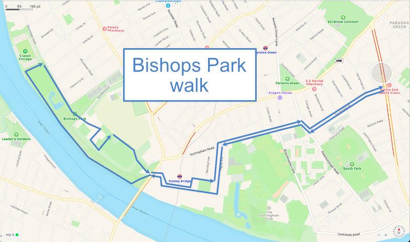 Bishops Park walk